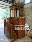 Mimbar Jati Ukir Mewah Pesanan DKM Masjid Agung Pemalang