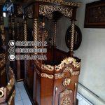 Mimbar Jati Ukir Mewah Pesanan Masjid Serang