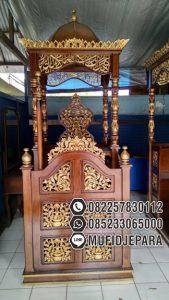 Mimbar Jati Ukiran Arabic Pesanan Masjid Agung Cirebon