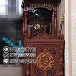 Mimbar Kayu Minimalis Pesanan DKM Masjid Tulungagung