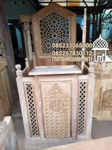 Mimbar Kayu Sederhana Pesanan DKM Masjid Cibinong