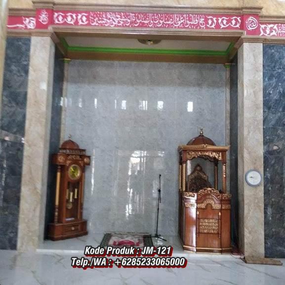 Harga Mimbar Kayu Ukir Klasik Jepara Pesanan DKM Masjid Agung Sumedang