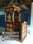 Mimbar Kayu Ukir Mewah Pesanan DKM Masjid Agung Kendal