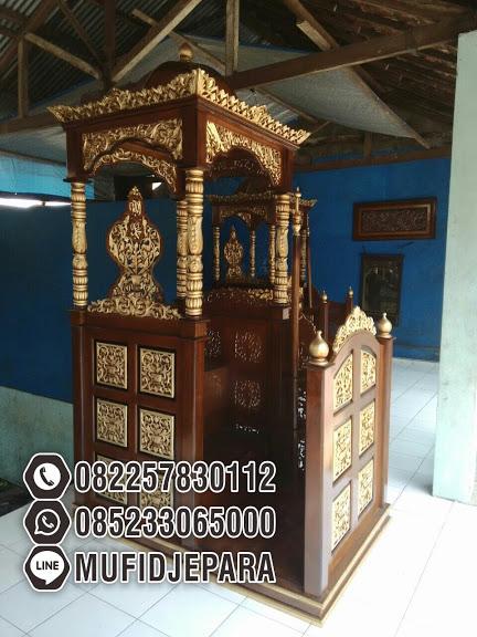 Harga Mimbar Kayu Ukir Mewah Pesanan DKM Masjid Agung Kendal