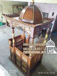 Mimbar Kayu Ukiran Pesanan DKM Masjid Probolinggo