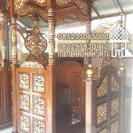 Mimbar Kayu Ukiran Pesanan DKM Masjid Agung Sumedang
