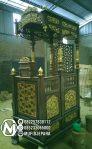 Mimbar Kubah Klasik Mewah Pesanan DKM Masjid Depok