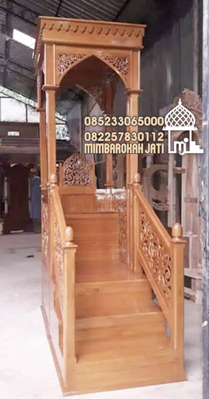 Mimbar Kubah Minimalis Modern Pesanan DKM Masjid Agung Tangerang