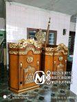 Mimbar Podium Ukiran Kaligrafi Pesanan DKM Masjid Brebes