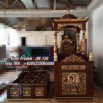Mimbar Podium Masjid Ukiran Kaligrafi Atap Kubah Masjid Agung Bogor