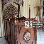 Podium Mimbar Ukiran Mewah Pesanan DKM Masjid Agung Purworejo