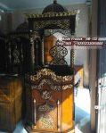 Mimbar Podium Khutbah Ukiran Kaligrafi Atap Kubah Masjid Agung Pasuruan