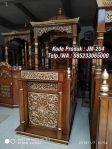 Bentuk Mimbar Jati Minimalis Masjid Sederhana