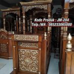 Model Mimbar Ukiran Masjid Di Sukabumi