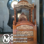 Mimbar Jati Classic Mewah Pesanan Masjid Agung Lebak