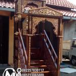 Mimbar Jati Classic Mewah Pesanan Masjid Sampang