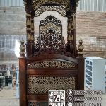 Podium Mimbar Masjid Ukiran Kaligrafi Atap Kubah Masjid Agung Subang