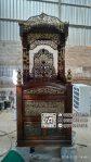 Podium Mimbar Masjid Ukiran Kaligrafi Atap Kubah Masjid Agung Karanganyar