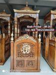 Desain Mimbar Kayu Standar Masjid Di Cikarang
