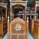 Desain Mimbar Ukiran Masjid Di Tegal