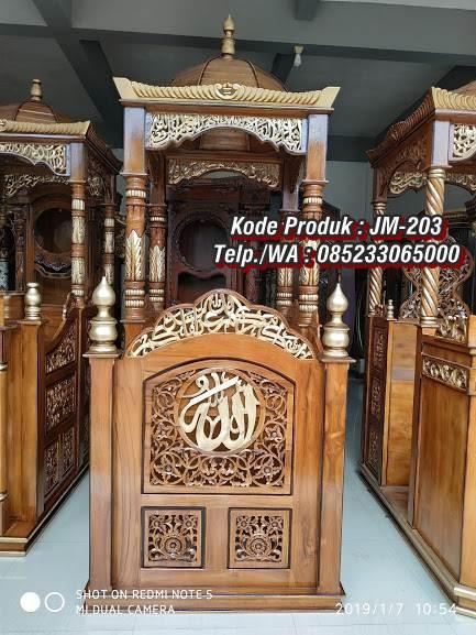 Mimbar Kayu Podium Minimalis Masjid Di Pekalongan