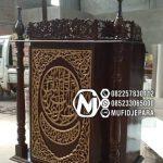 Podium Mimbar Classic Mewah Pesanan Masjid Agung Luwu