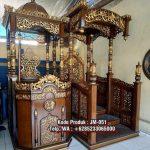 Podium Mimbar Masjid Ukiran Kaligrafi Atap Kubah Masjid Agung Brebes