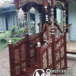 Mimbar Kubah Ukir Klasik Jepara Pesanan Masjid Pacitan