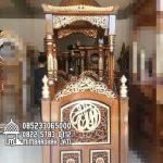 Mimbar Jati Sederhana Pesanan Masjid Agung Boyolali