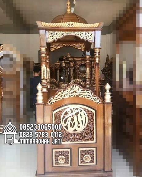 Toko Mimbar Jati Sederhana Pesanan Masjid Agung Boyolali