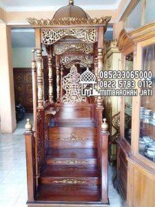 Mimbar Jati Sesuai Sunnah Pesanan DKM Masjid Agung Lamongan