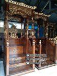 Mimbar Jati Sesuai Sunnah Pesanan Masjid Agung Ciamis