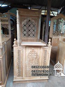 Mimbar Jati Minimalis Pesanan Masjid Probolinggo