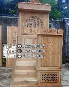 Mimbar Jati Minimalis Pesanan Masjid Lebak