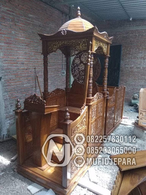 Mimbar Podium Atap Kubah Pesanan Masjid Caruban