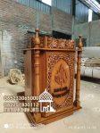 Podium Mimbar Classic Mewah Pesanan DKM Masjid Sukabumi