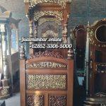 Mimbar Kubah Ukiran Kaligrafi Pesanan Masjid Probolinggo