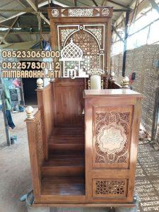 Podium Mimbar Ukiran Mewah Pesanan Masjid Agung Palabuhanratu