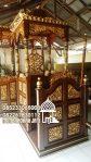 Mimbar Jati Ukiran Kaligrafi Pesanan Masjid Agung Kulon Progo