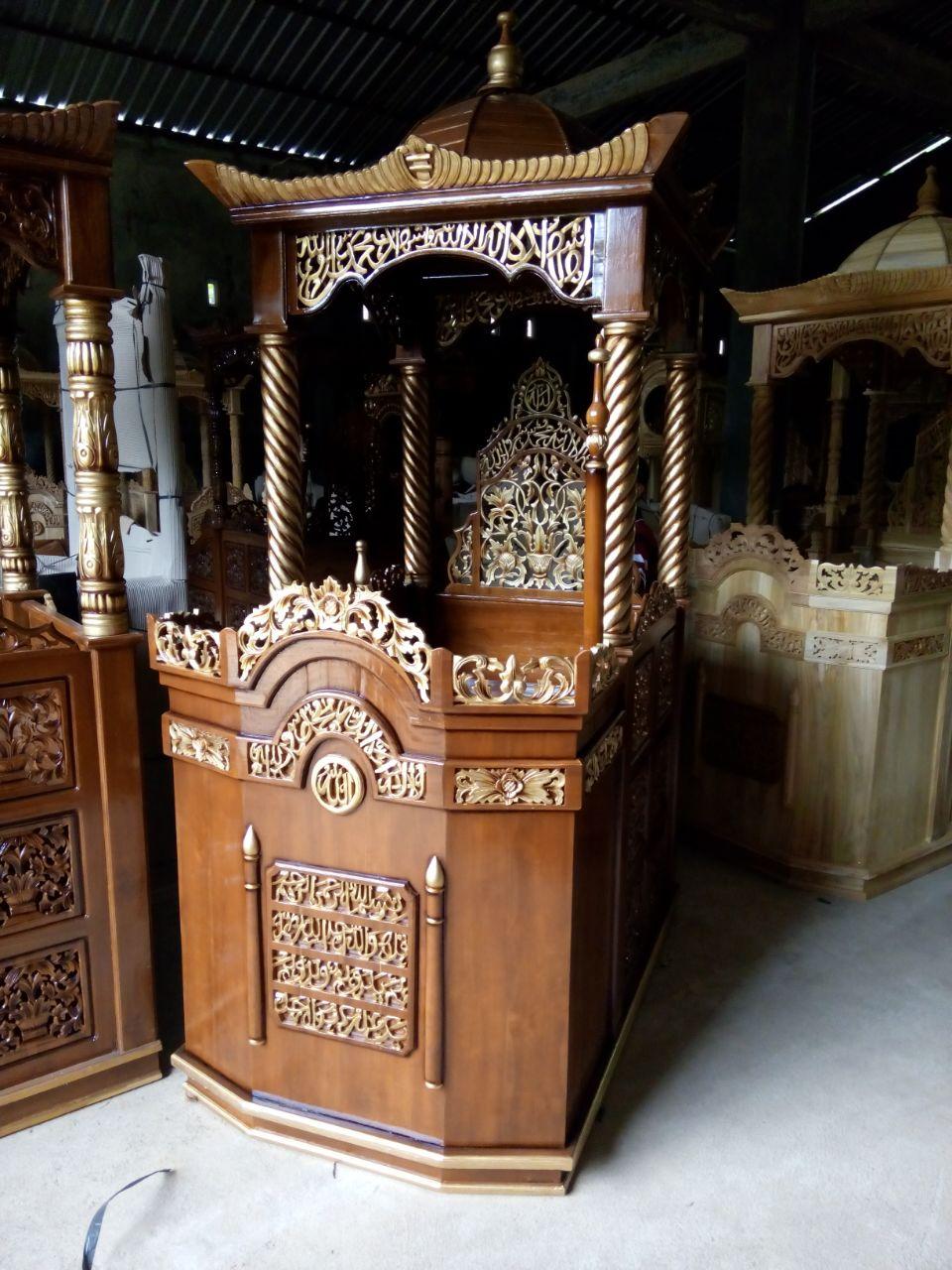 Mimbar Kubah Minimalis Pesanan Masjid