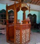 Mimbar Kubah Ukir Mewah Pesanan Masjid Wonogiri