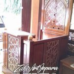 Mimbar Podium Ukiran Kaligrafi Pesanan Masjid Grobogan