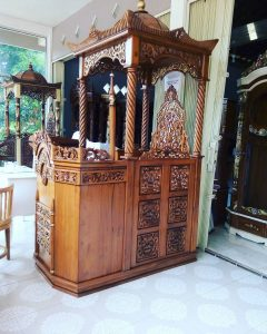 Mimbar Podium Ukiran Mewah Pesanan Masjid Agung Demak