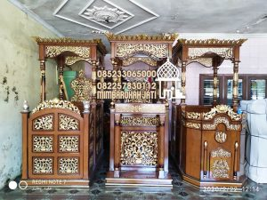 Desain Mimbar Kayu Podium Minimalis Masjid Di Tegal