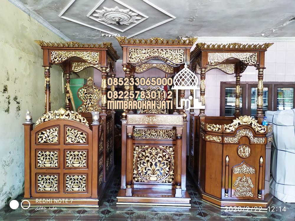 Mimbar Kayu Podium Minimalis Masjid Di Tegal