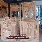 Mimbar Jati Minimalis Masjid Di Bekasi