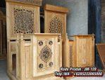 Mimbar Kayu Podium Minimalis Masjid Di Jakarta