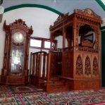Mimbar Kayu Podium Minimalis Masjid Besar