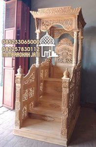 Mimbar Kayu Standar Masjid Di Bandung
