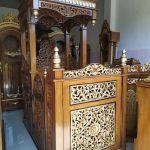 Mimbar Kayu Standar Masjid Di Tegal